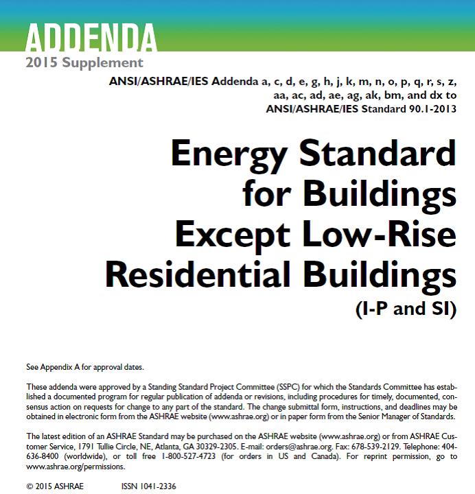 استاندارد ASHRAE 90.1 -2016  بر اساس واحدSI